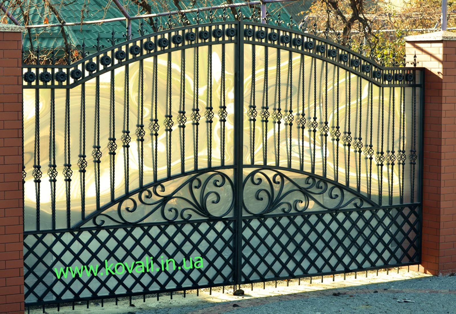Как сделать ворота полукругом